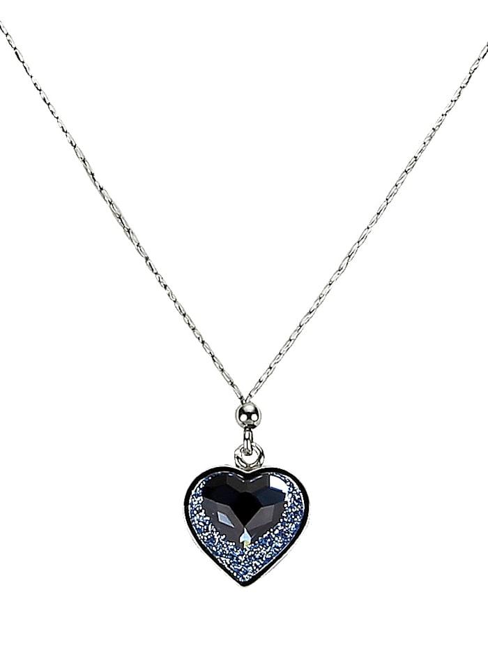 Herz-Collier mit Swarovski-Kristallen