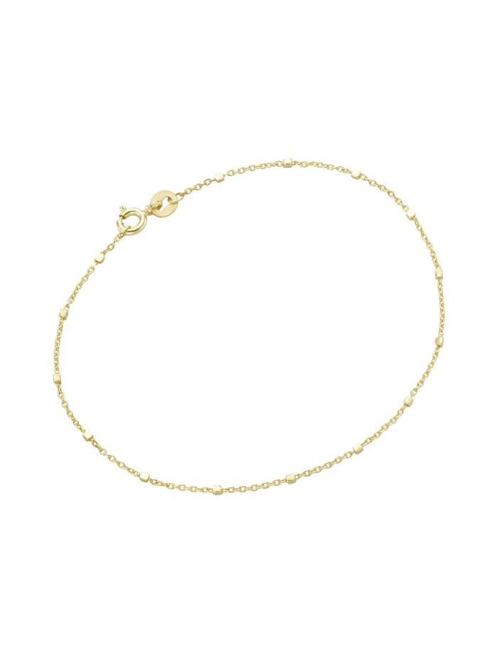 Luigi Merano Armband Ankerkette massiv mit würfelförmigen Zwischenteilen, Gold 375, Gold