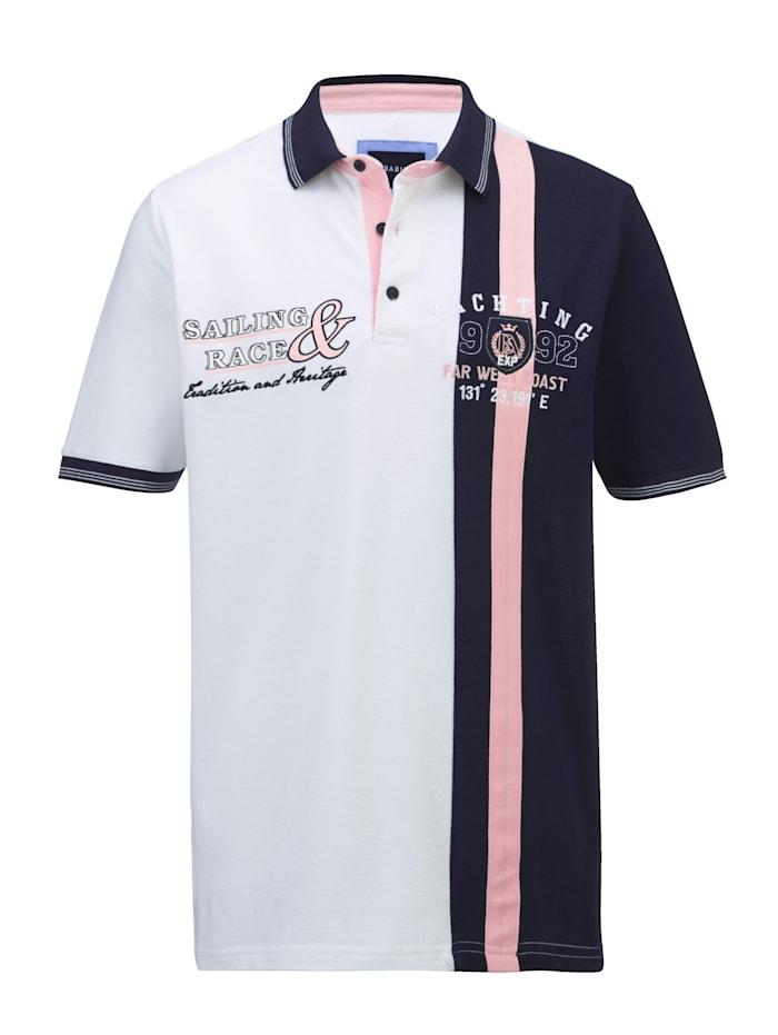 BABISTA Polo à la ligne sport, Blanc/Marine