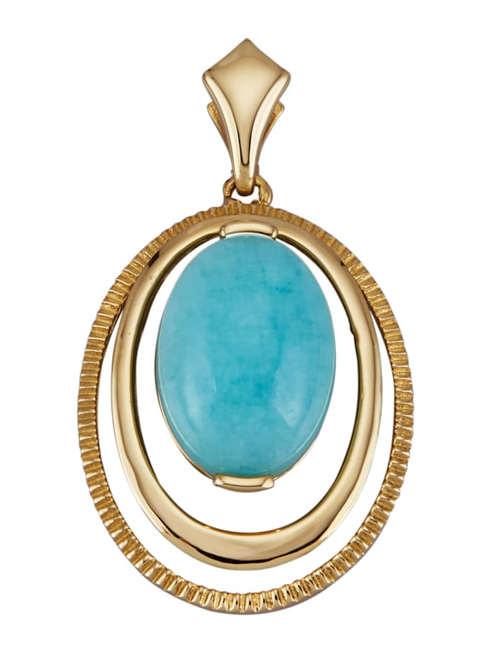 Diemer Gold Anhänger in Gelbgold 585, Blau
