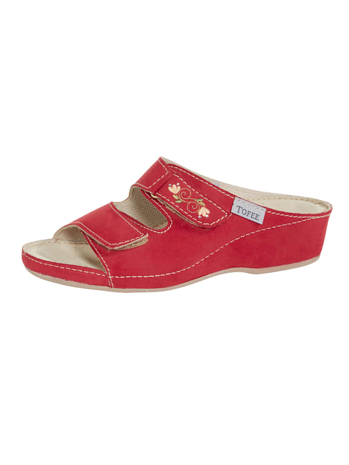 Naturläufer Pantolette, Rot
