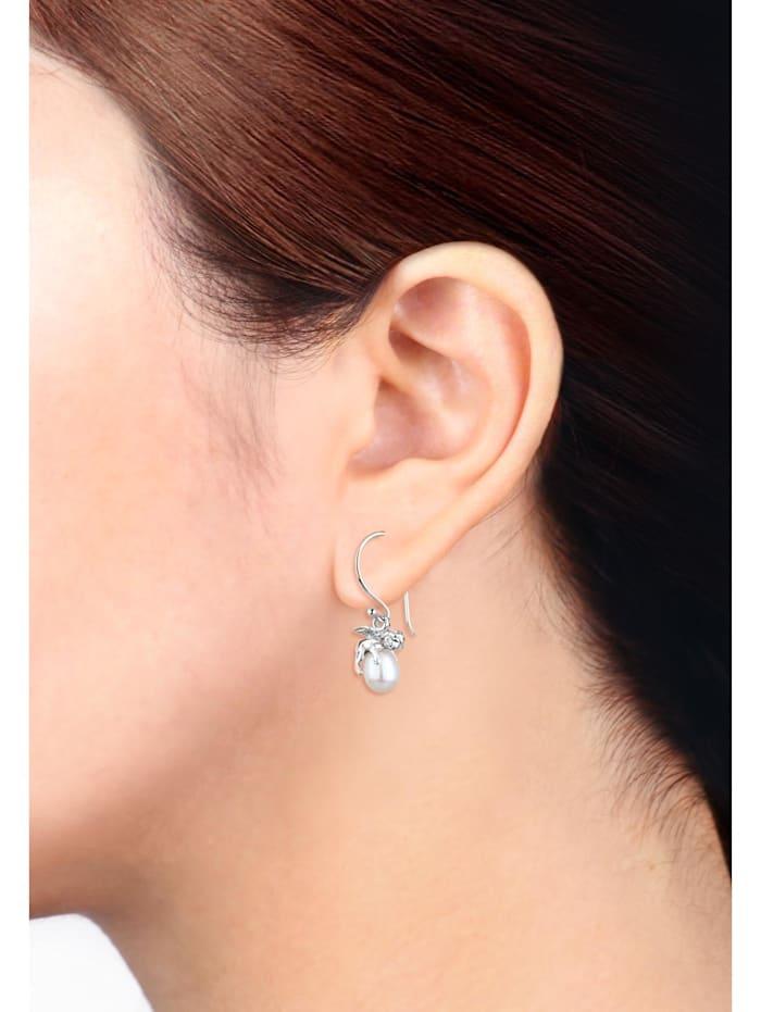 Ohrringe Engel Schutzengel Süßwasserzuchtperle Silber