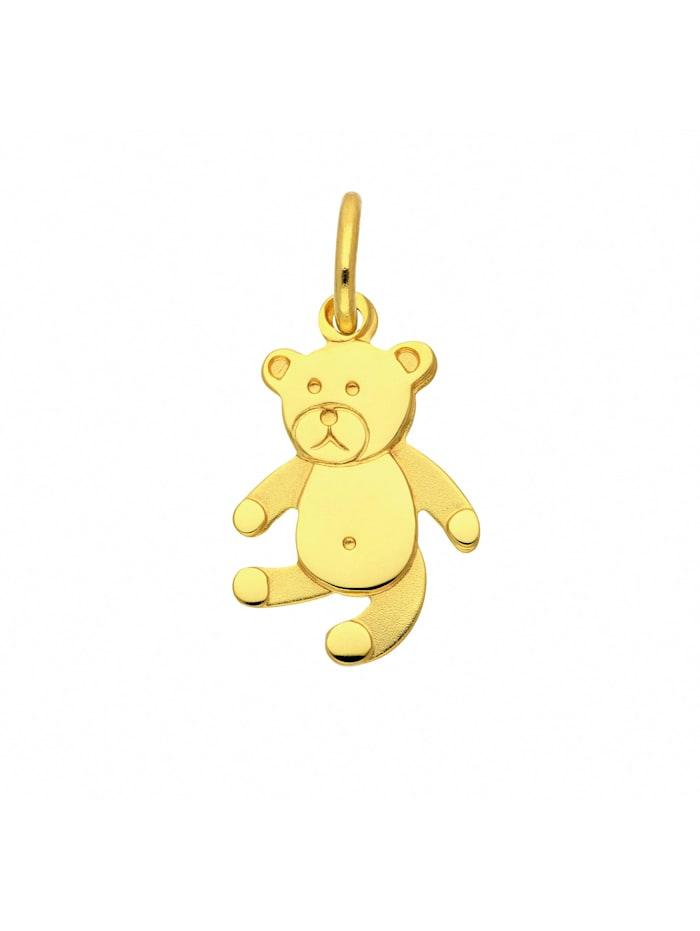 1001 Diamonds Damen Goldschmuck 333 Gold Anhänger Bär, gold