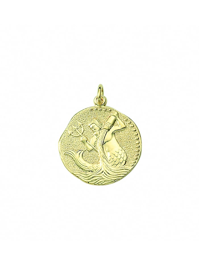 1001 Diamonds Damen & Herren Goldschmuck 333 Gold Sternzeichen Anhänger Wassermann Ø 18,2 mm, gold