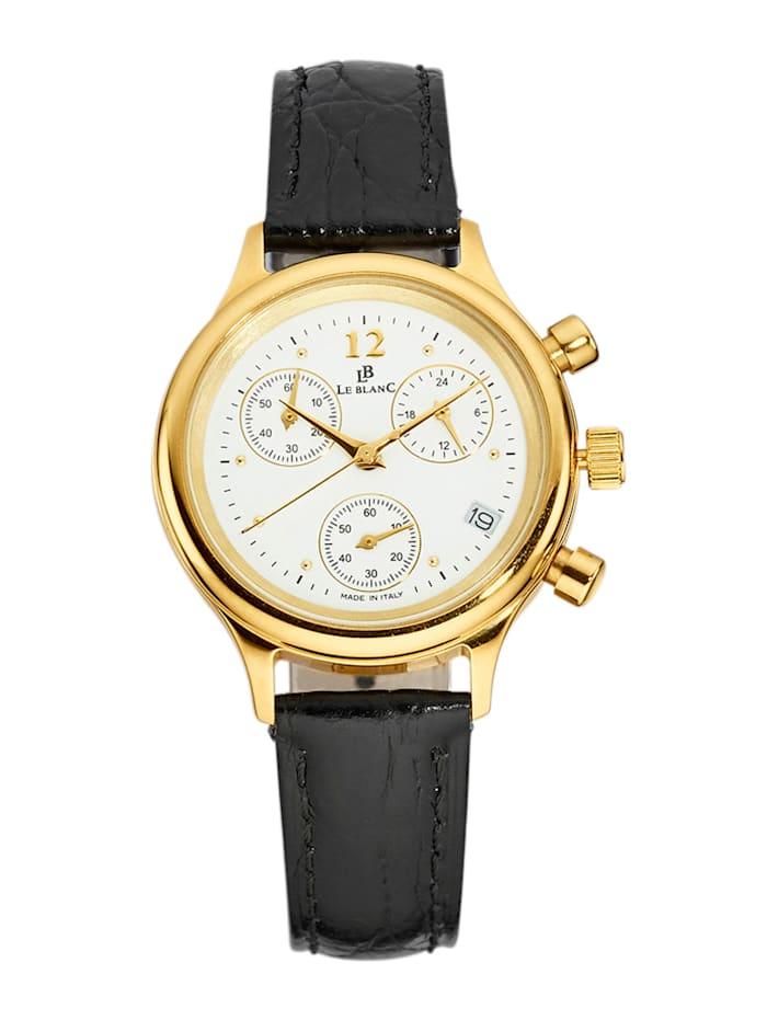 Le Blanc Damenuhr-Chronograph in Gelbgold 585, Gelbgoldfarben