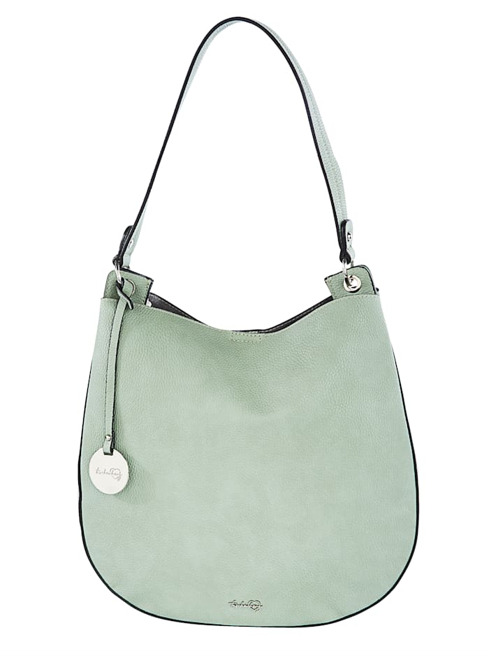 Taschenherz Handbag with a detachable logo pendant 2-piece, Sage Green