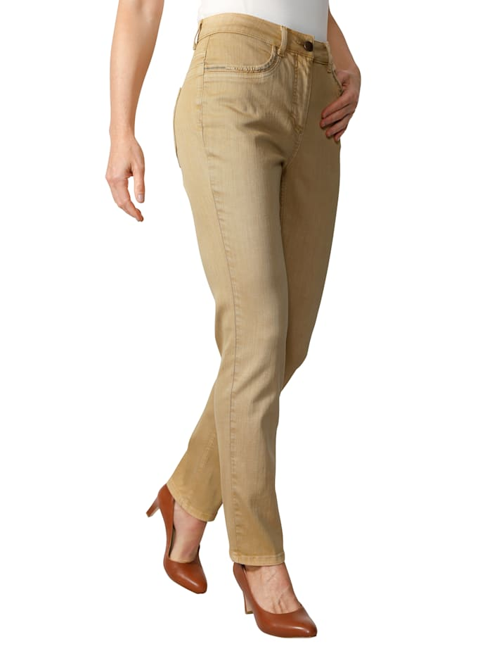 Pantalon à effet délavé mode