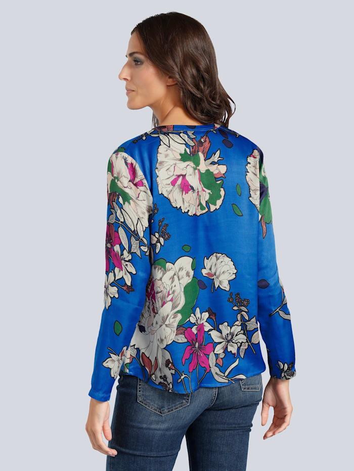 Bluse in fließendem Material mit Blumenmotiv