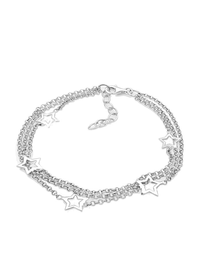 Elli Armband 3-Lagig Sterne 925 Sterling Silber, Silber