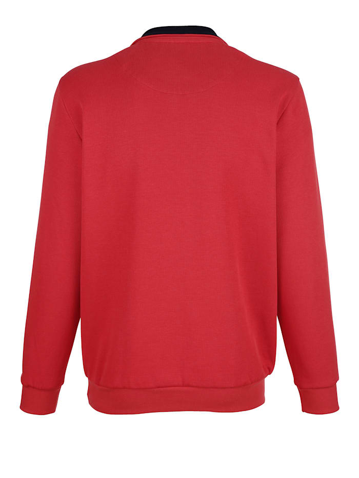 Sweatshirt med kontrasterande detaljer