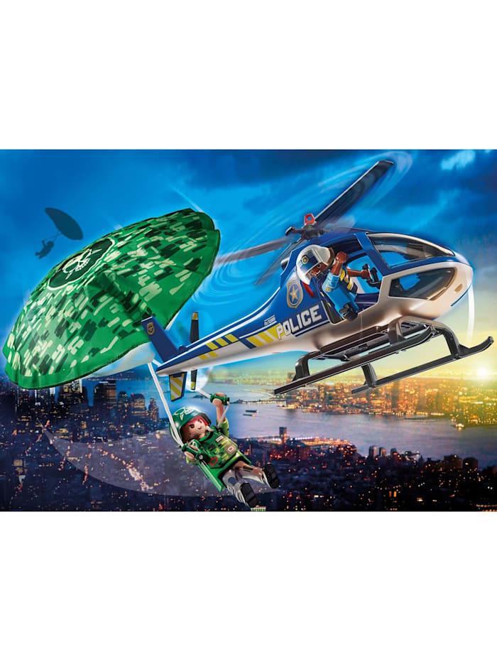 Konstruktionsspielzeug Polizei-Hubschrauber: Fallschirm-Verfolgung
