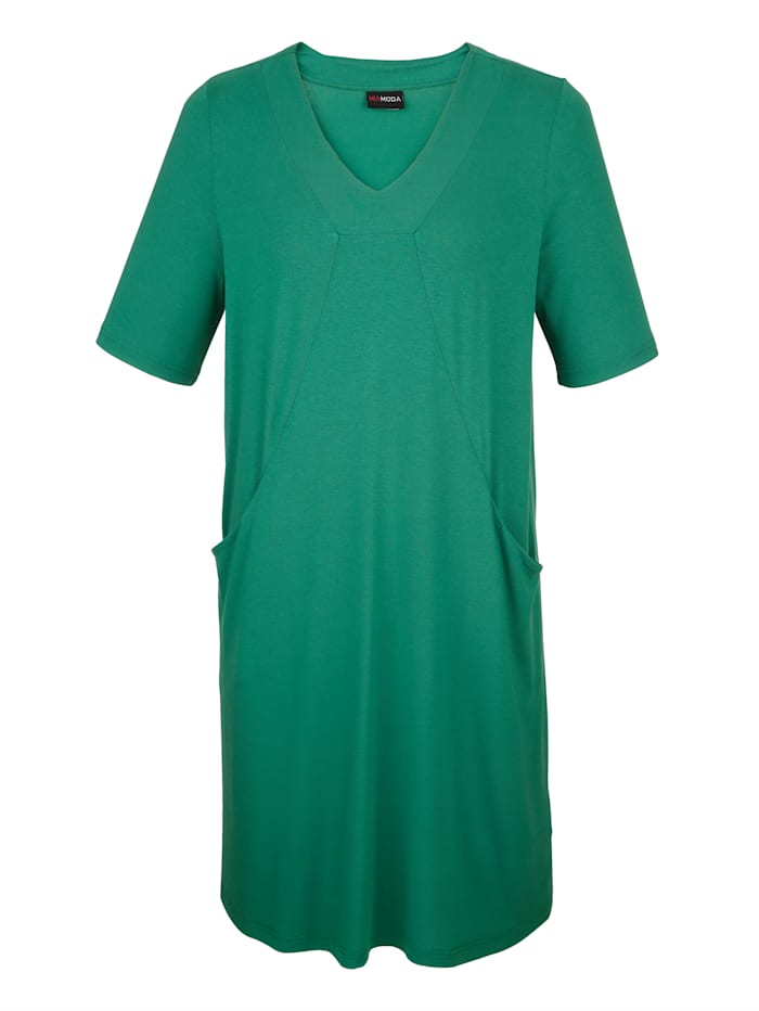MIAMODA Robe matière  T-shirt, Vert