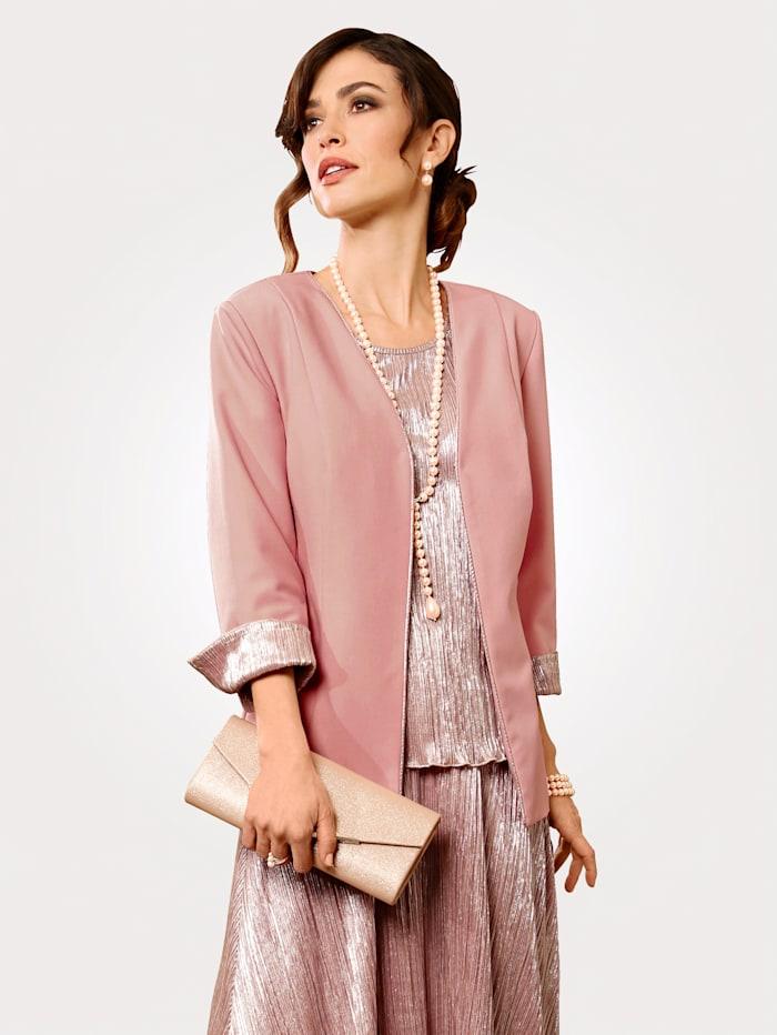 Blazer with shimmering detailing, Rosé