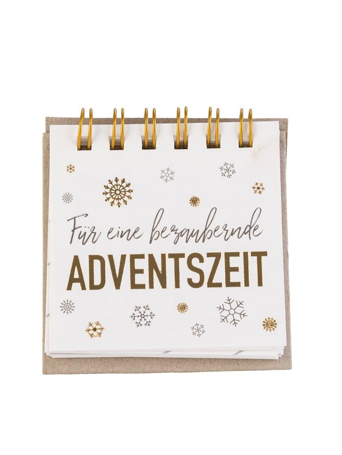 räder Adventsbotschaften, weiß/bunt