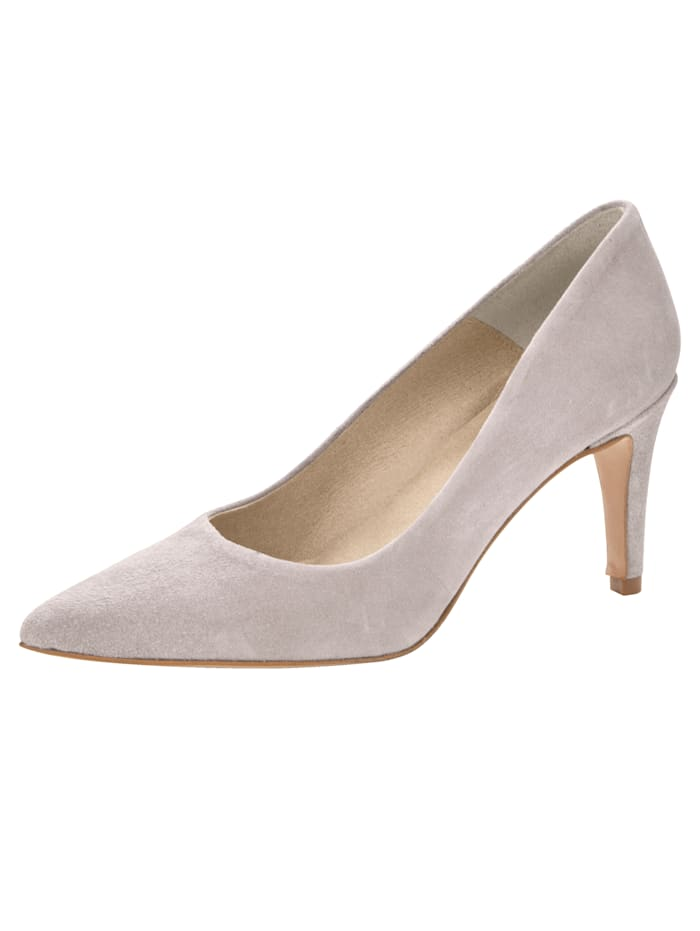 Court shoes made from premium leather, Grey