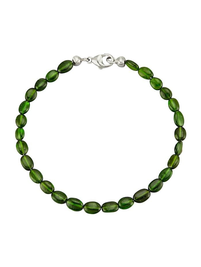 Chromdiopsid-Armband mit Chromdiopsid, Grün