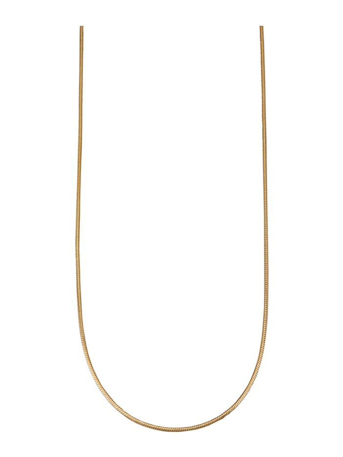 Schlangenkette in Silber 925, vergoldet, Gelbgoldfarben