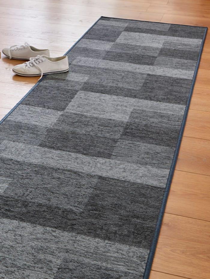 Floordirekt Gångmatta i metervara – Tobi, Antracitgrå