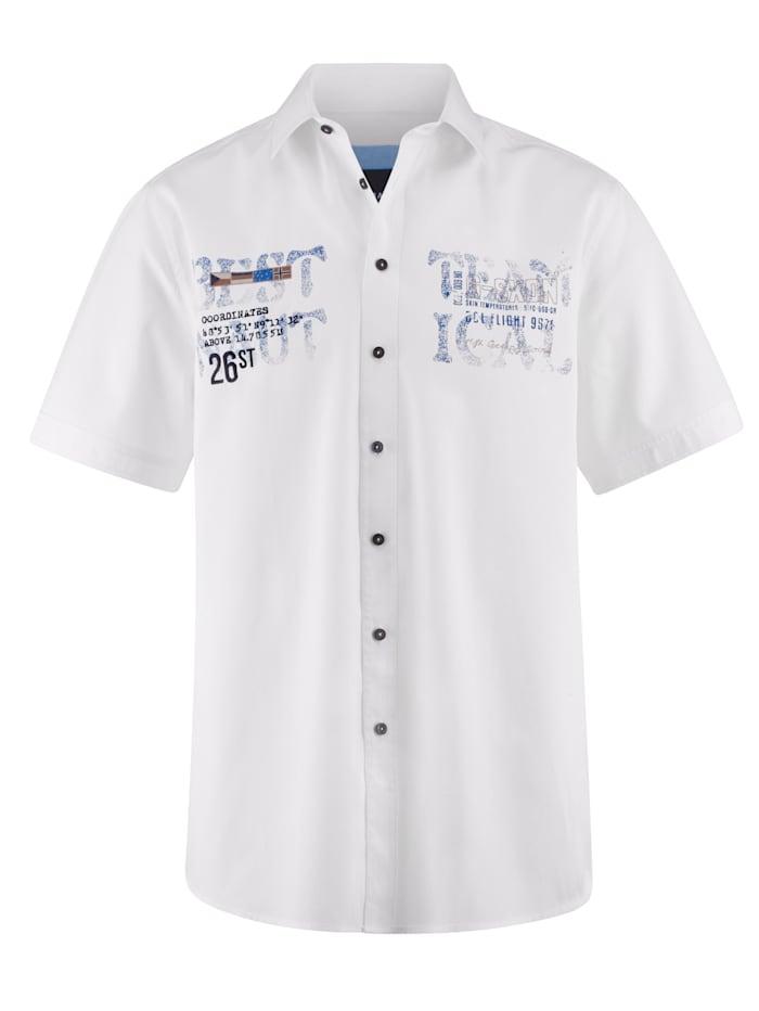BABISTA Hemd mit feinen Streifen, Weiß