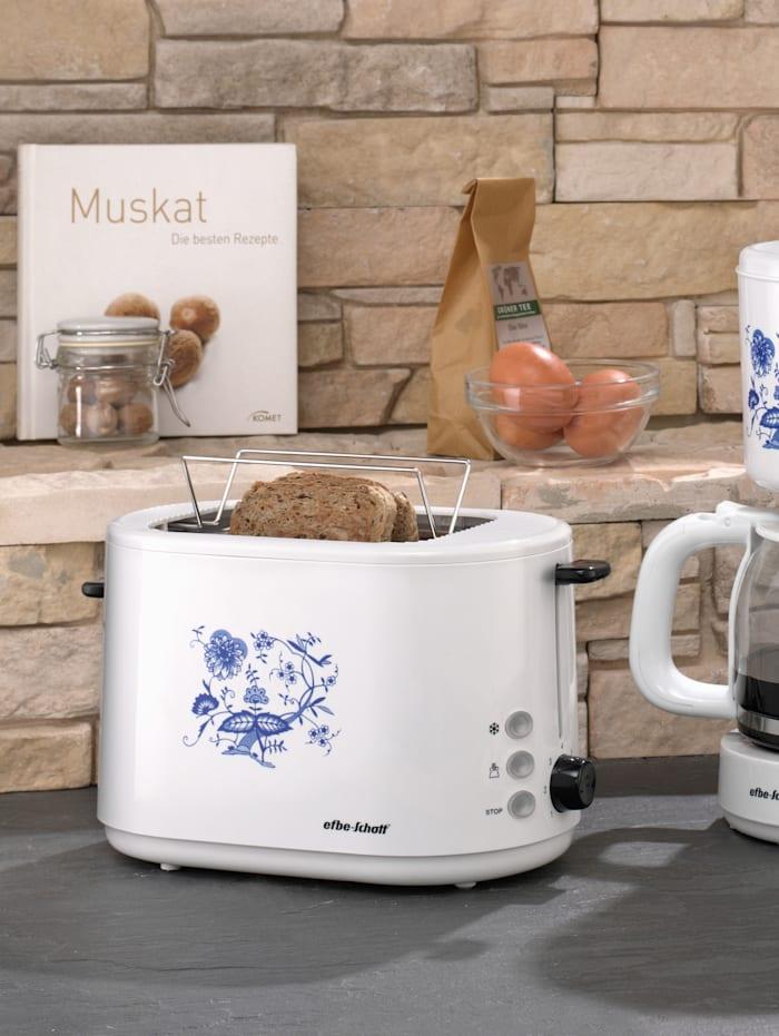 Automatik-Toaster SC TO 1080.1 Z, weiß mit blauem Zwiebelmusterdekor