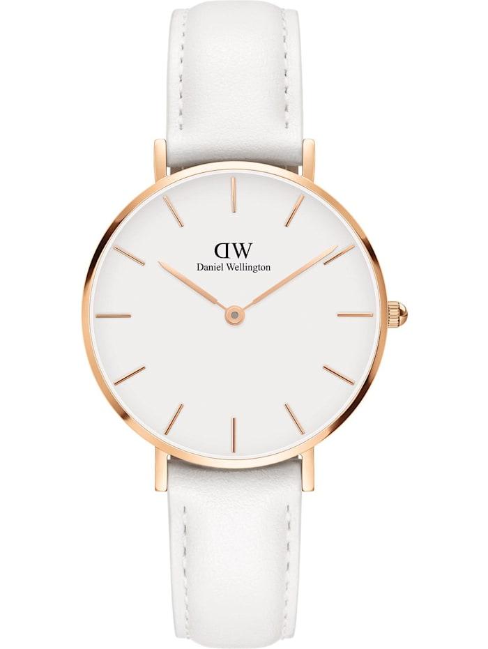 Daniel Wellington Daniel Wellington Damen-Uhren Analog Quarz, weiß