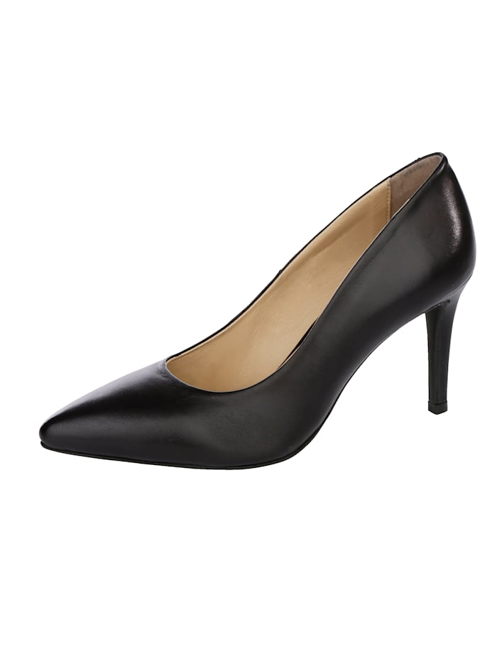 Liva Loop Court Shoes with an elegant pointed toe, Black