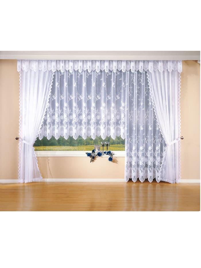 Webschatz Fenster-Store, weiß