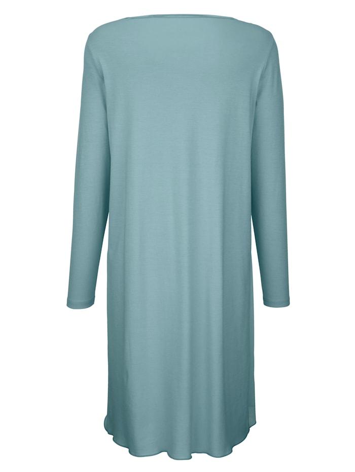 Nachthemd met elegant volant van chiffon