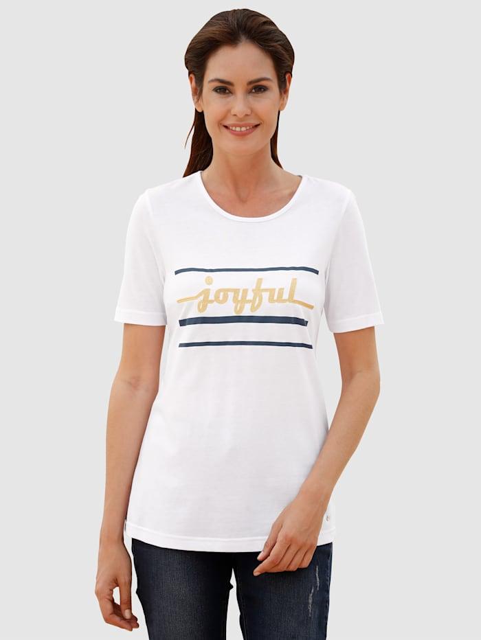 Shirt mit Stickerei im Vorderteil