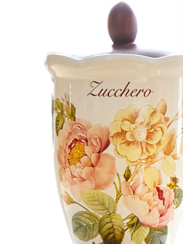 Nuova Ceramica Artisan Boîte de conservation rétro pour sucre 'Orto d´Autunno', Multicolore