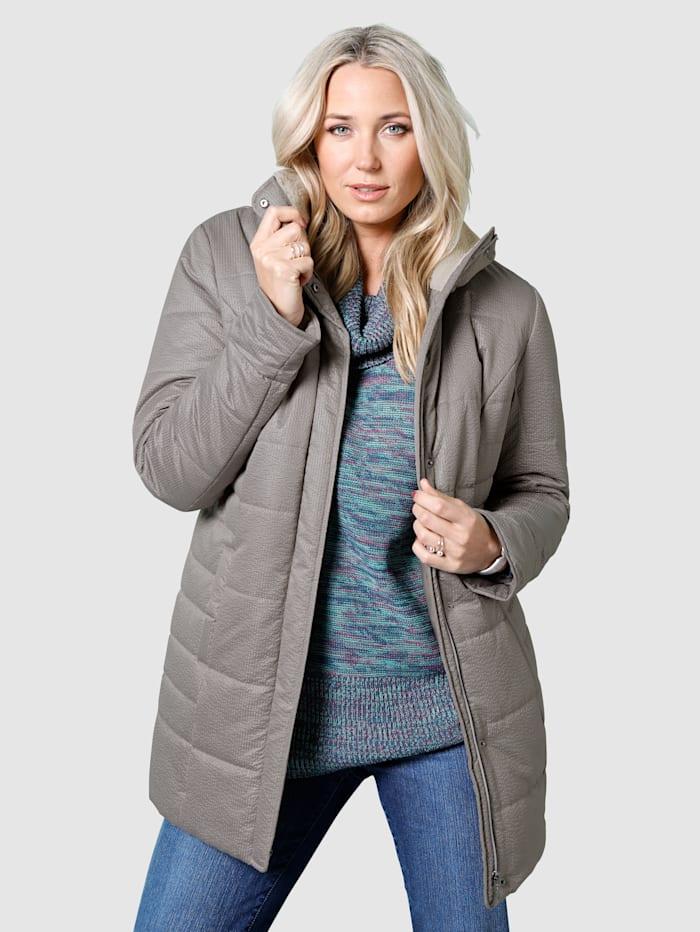 MIAMODA Jacke aus leicht glänzendem, strukuriertem Obermaterial, Grau