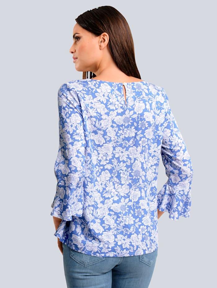 Bluse mit Floralem-Dessin