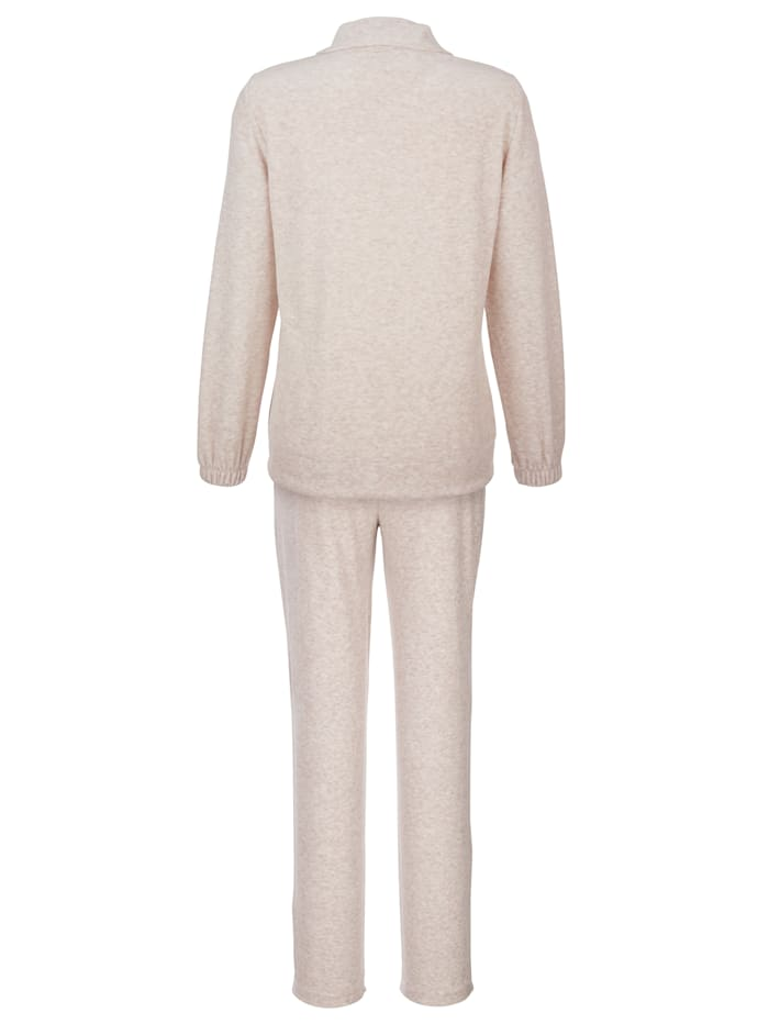 Leisure suit made from soft nicky velour fabric