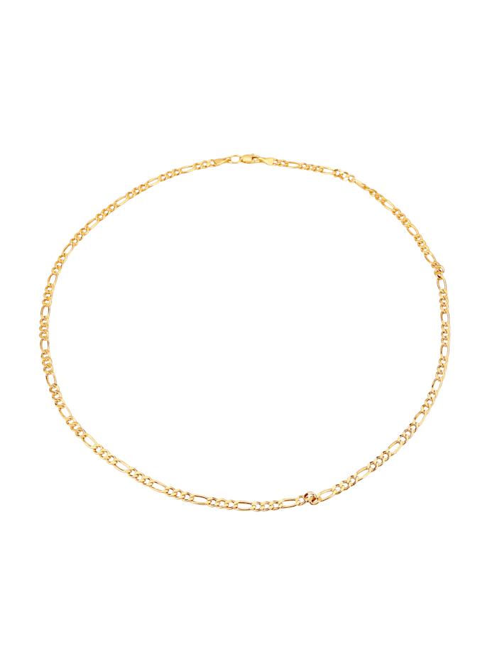 Figaropanzerkette in Gelbgold, Gelb