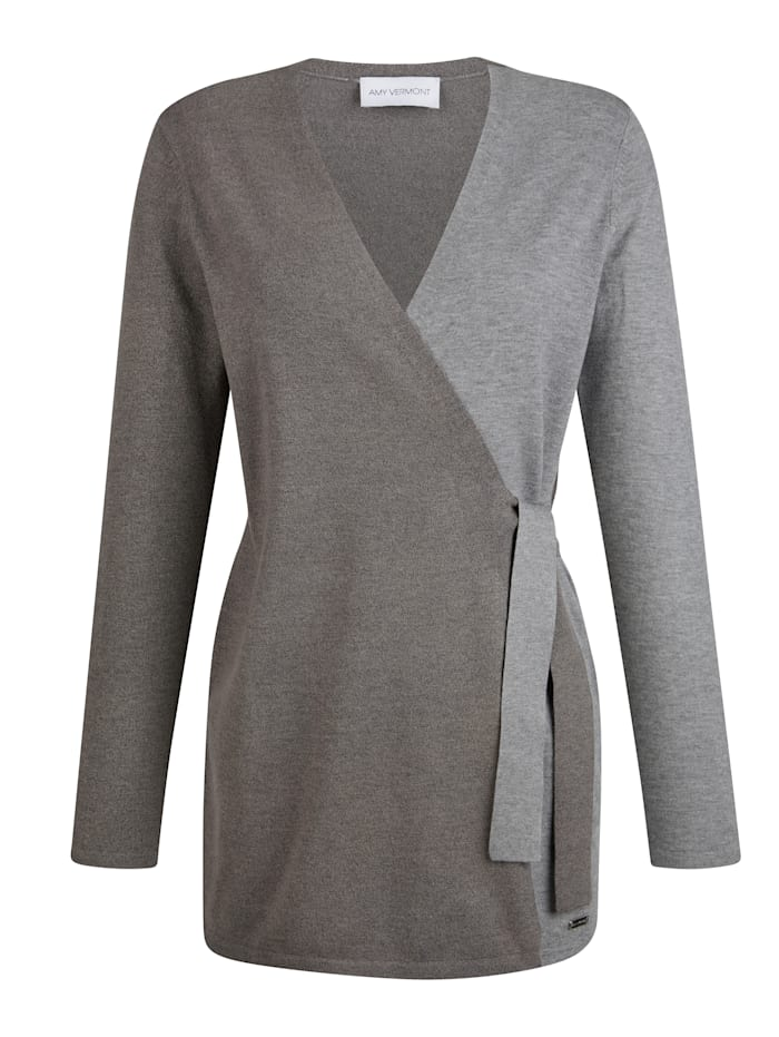 Vest in bicolor look