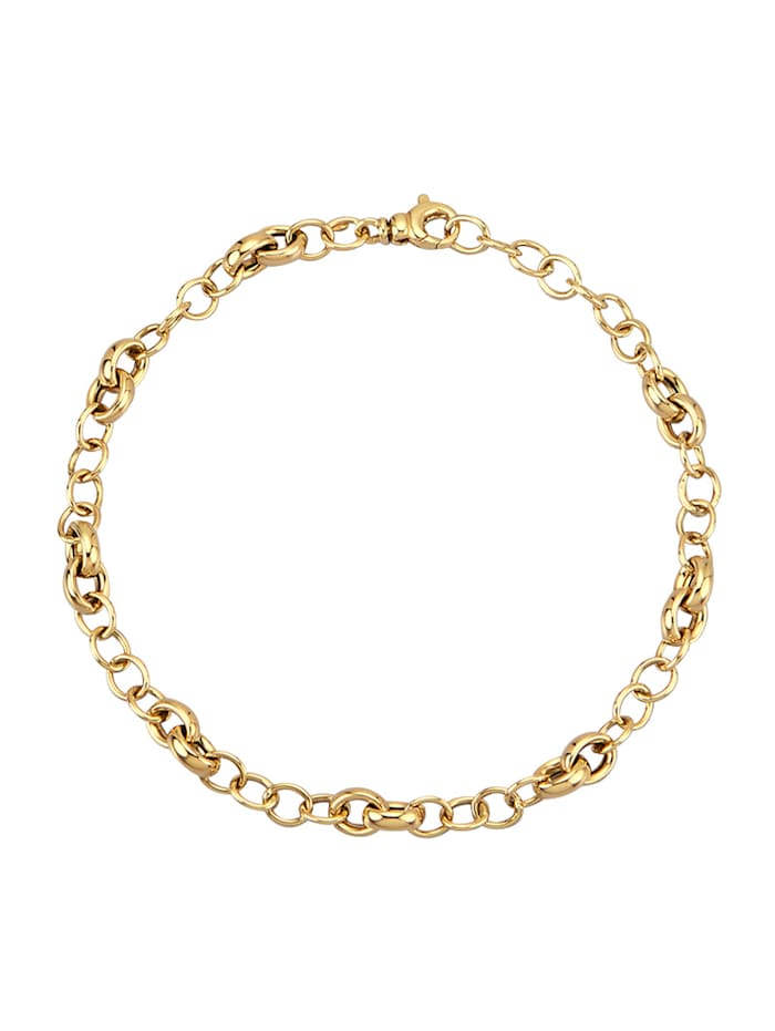 Amara Or Bracelet en maille jaseron en or jaune 585, Coloris or jaune