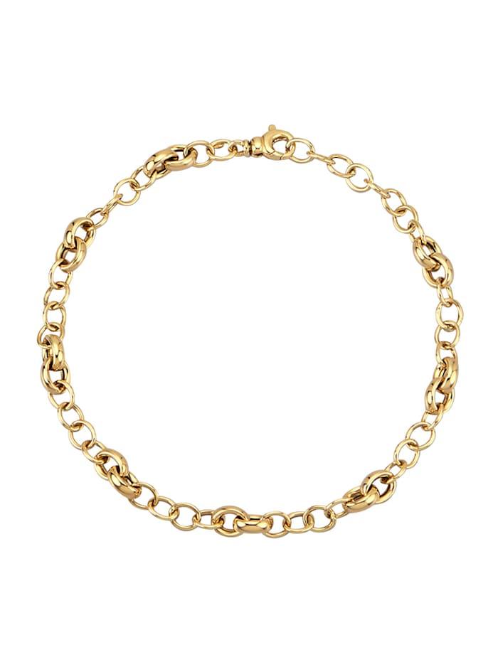 Diemer Gold Bracelet en maille jaseron en or jaune 585, Coloris or jaune