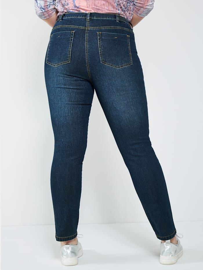 Jeans mit seitlichem Nietenband
