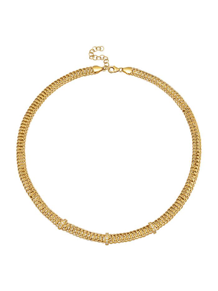 Amara Diamant Collier mit Brillanten, Gelbgoldfarben