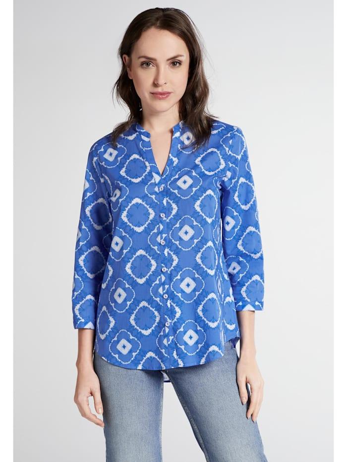 Eterna Eterna Dreiviertelarm Bluse MODERN CLASSIC Eterna Dreiviertelarm Bluse MODERN CLASSIC, blau/weiss