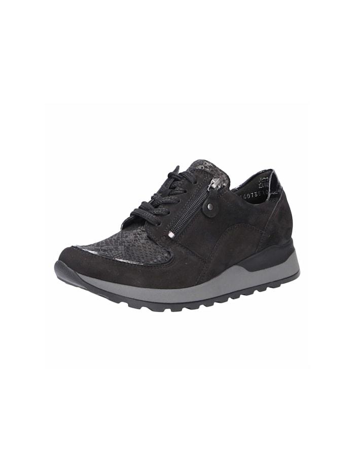 Waldläufer Damen Schnürschuh in schwarz, schwarz