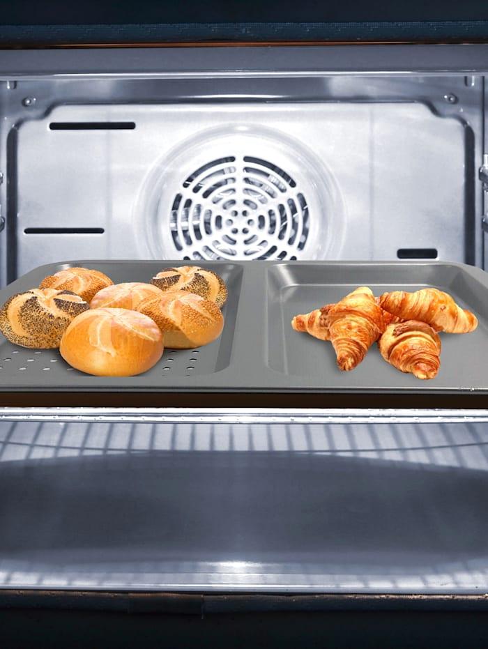 HSP Hanseshopping Tôle pour griller et pâtisser 2 en 1 'Ceraflon Airfry Pro', Gris