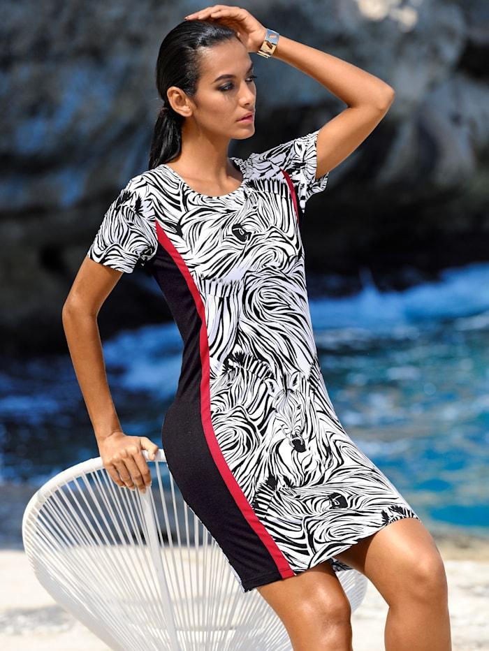 Strandkleid mit seitlichen Streifen
