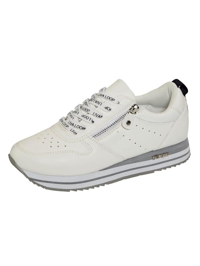 Liva Loop Sneakers à plateau avec semelle de marche en EVA très légère, Blanc