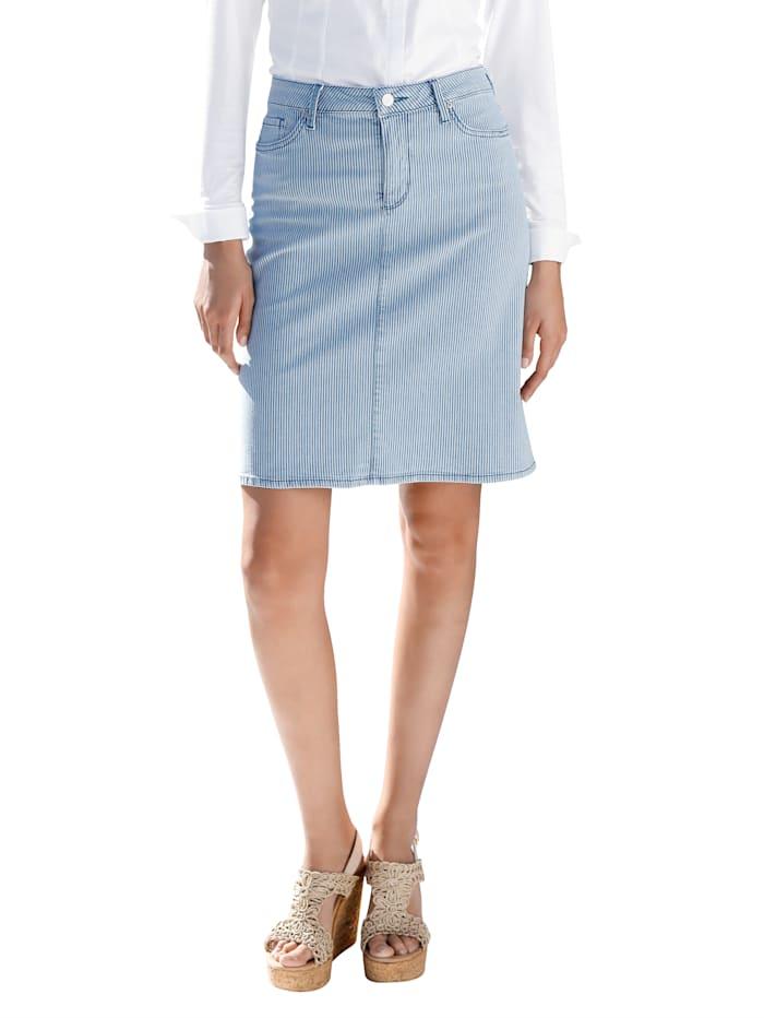 NYDJ Jupe en jean de coupe classique, Bleu ciel