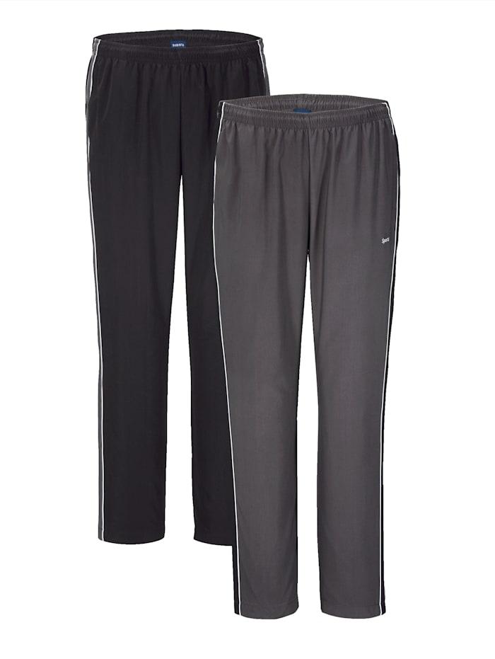 BABISTA Pantalon de loisirs par lot de 2, Gris/Noir