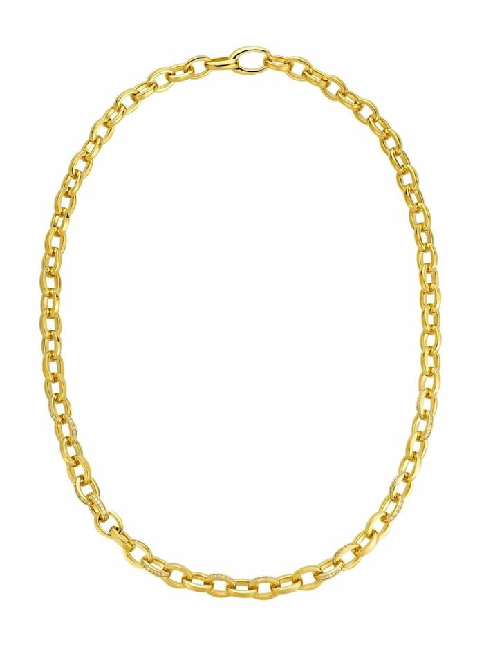 JOOP! Collier für Damen, Sterling Silber 925, Zirkonia, Gold