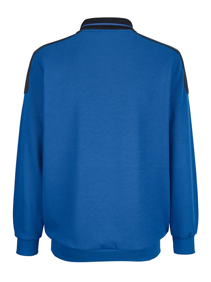 Sweatshirt med detaljer i kontrast