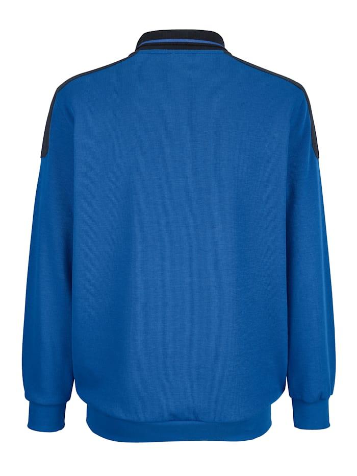 Sweatshirt med kontrastfargede detaljer