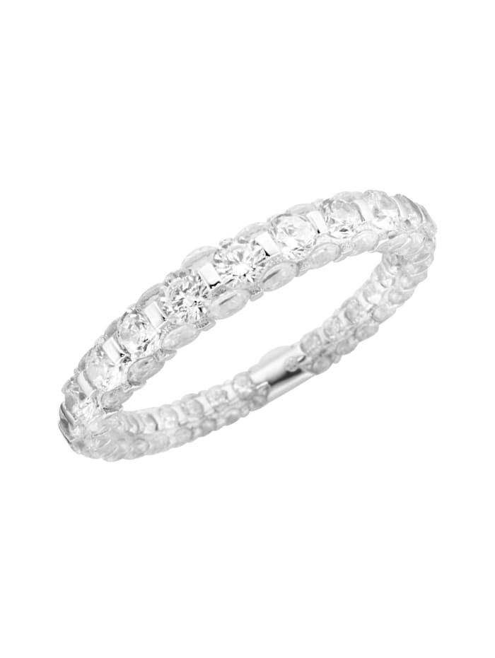 Giorgio Martello Ring mit weißen Zirkonia Steinen, Weiss